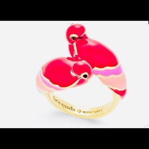 New KATE SPADE OUT OF OFFICE PARROT  RING